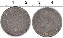 Изображение Монеты Испания 1 песета 1899 Серебро VF Король Альфонсо