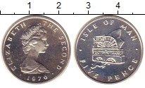 Изображение Монеты Остров Мэн 5 пенсов 1976 Серебро UNC-