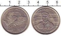Изображение Монеты Аргентина 2 песо 2007 Медно-никель UNC-