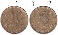 Изображение Мелочь Южная Америка Аргентина 10 сентаво 1971 Латунь VF