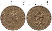 Изображение Монеты Остров Джерси 1/4 шиллинга 1957 Латунь XF Елизавета II