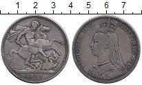 Изображение Монеты Европа Великобритания 1 крона 1889 Серебро VF