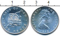 Изображение Монеты Великобритания Остров Мэн 5 пенсов 1978 Серебро Proof-