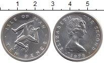 Изображение Монеты Остров Мэн 10 пенсов 1978 Серебро UNC