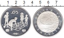 Изображение Монеты Мальта 5 фунтов 1981 Серебро Proof-