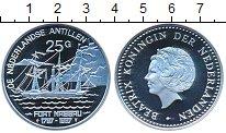 Изображение Монеты Антильские острова 25 гульденов 1997 Серебро Proof Королева  Беатрикс.