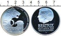 Изображение Монеты Европа Нидерланды 50 гульденов 1982 Серебро Proof-