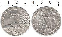 Изображение Монеты Финляндия 100 марок 1990 Серебро UNC-