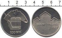 Изображение Монеты Европа Финляндия 100 марок 1991 Серебро UNC-