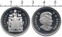 Изображение Монеты Канада 50 центов 2004 Серебро Proof Елизавета II.  Герб