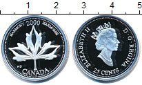 Изображение Монеты Северная Америка Канада 25 центов 2000 Серебро Proof