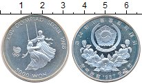 Изображение Монеты Южная Корея 5000 вон 1988 Серебро Proof- Олимпиада в Сеуле