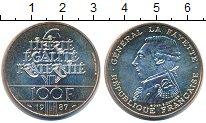 Изображение Монеты Франция 100 франков 1987 Серебро UNC- Генерал Ла Файет