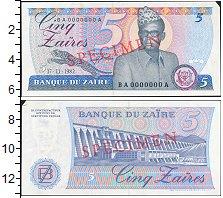 Изображение Банкноты Конго Заир 5 заир 1982  XF+