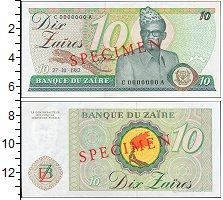 Изображение Банкноты Конго Заир 10 заир 1982  XF+