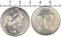 Изображение Монеты Европа Сан-Марино 500 лир 1972 Серебро UNC