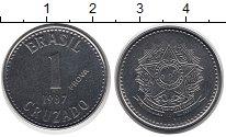 Изображение Монеты Бразилия 1 крузадо 1987 Сталь UNC-