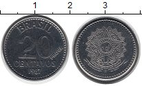 Изображение Монеты Южная Америка Бразилия 20 сентаво 1987 Сталь UNC-