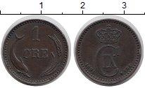 Изображение Монеты Европа Дания 1 эре 1894 Бронза XF