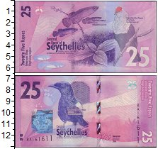 Изображение Банкноты Сейшелы 25 рупий 2016  UNC