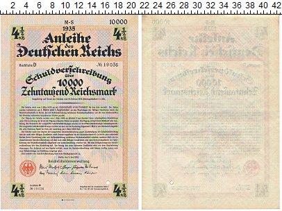 Изображение Банкноты Третий Рейх 10000 марок 1935  XF