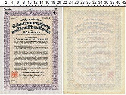 Изображение Банкноты Третий Рейх 500 марок 1935  XF