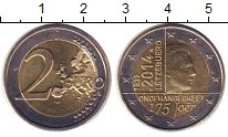 Изображение Монеты Люксембург 2 евро 2014 Биметалл UNC-
