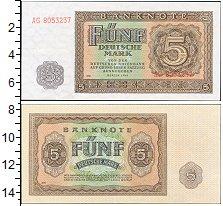 Изображение Банкноты ГДР 5 марок 1955  UNC-