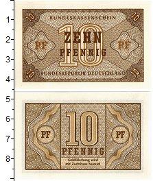 Изображение Банкноты ФРГ 10 пфеннигов 1949  UNC