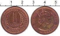 Изображение Монеты Карибы 1 цент 1965 Бронза XF