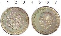 Изображение Монеты Мексика 5 песо 1956 Серебро XF