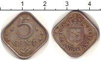 Изображение Монеты Нидерланды Антильские острова 5 центов 1976 Медно-никель VF