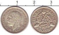 Изображение Монеты Великобритания 3 пенса 1935 Серебро VF Георг V.
