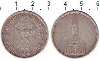 Изображение Монеты Третий Рейх 5 марок 1934 Серебро VF Подписная кирха. А