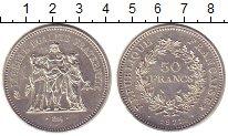 Изображение Монеты Европа Франция 50 франков 1977 Серебро UNC-