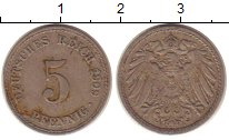 Изображение Монеты Германия 5 пфеннигов 1909 Медно-никель XF А