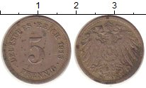 Изображение Монеты Германия 5 пфеннигов 1913 Медно-никель VF А