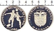 Изображение Монеты Панама 10 бальбоа 1982 Серебро Proof- Чемпионат мира по фу
