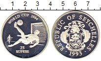 Изображение Монеты Африка Сейшелы 25 рупий 1993 Серебро Proof-