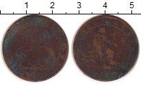 Изображение Монеты Европа Испания 5 сентаво 1870 Медь VF