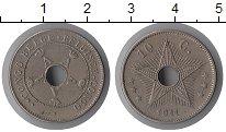 Изображение Монеты Бельгийское Конго 10 сантим 1911 Медно-никель XF Альберт