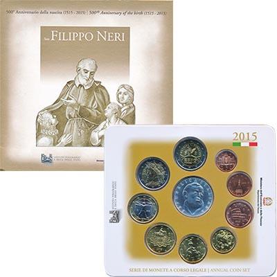 Изображение Подарочные монеты Европа Италия Евронабор 2015 2015  UNC