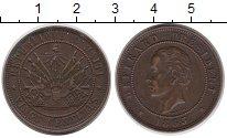 Изображение Монеты Северная Америка Гаити 20 сентим 1863 Медь VF