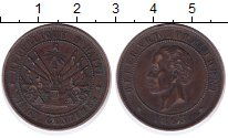 Изображение Монеты Северная Америка Гаити 20 сентим 1863 Бронза XF