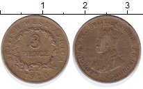 Изображение Монеты Западная Африка 3 пенса 1920 Латунь XF-