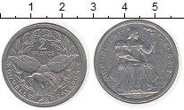 Изображение Мелочь Франция Новая Каледония 2 франка 1987 Алюминий UNC-