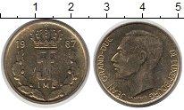 Изображение Дешевые монеты Европа Люксембург 5 франков 1987 сталь покрытая латунью VF