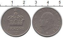 Изображение Дешевые монеты Европа Норвегия 1 крона 1975 Медно-никель XF