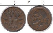 Изображение Дешевые монеты Бельгия 20 сантим 1954 Бронза VF
