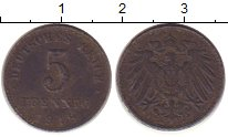 Изображение Монеты Европа Германия 5 пфеннигов 1918 Железо XF-